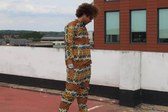 Man in kente outfit
