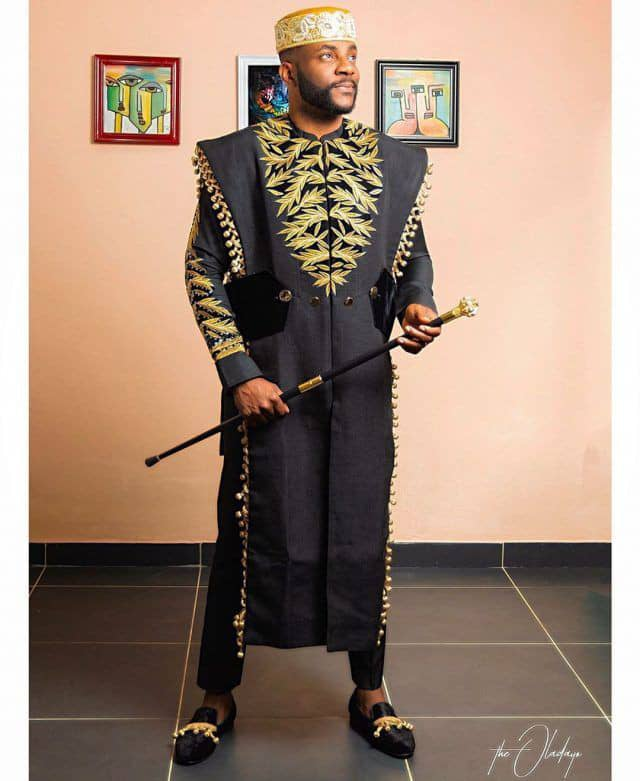Ebuka rocking another agbada