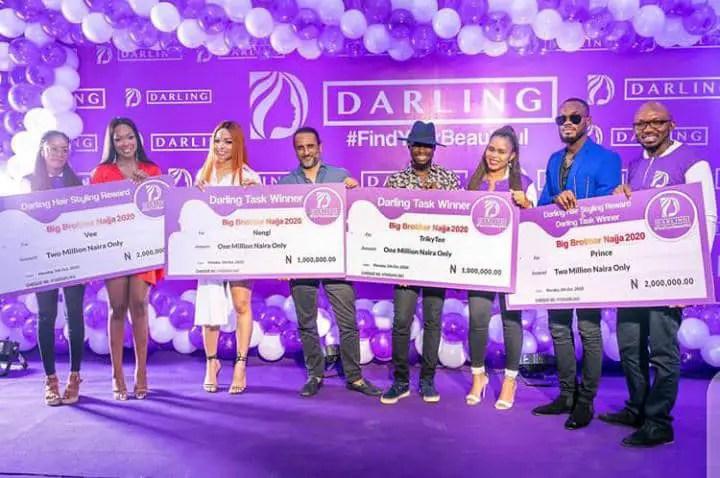 Darling hair as sponsors of BBNaija 2020