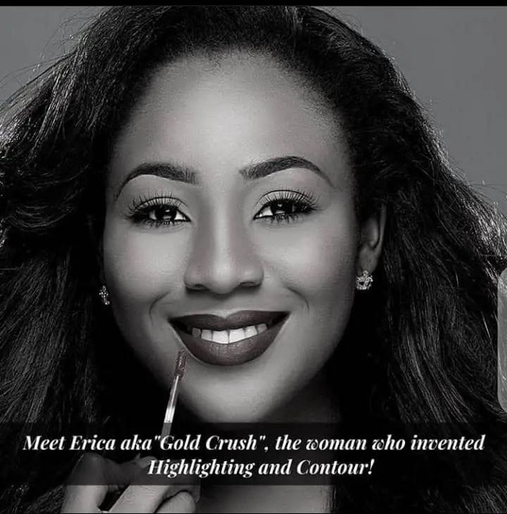 Erica of BBNaija is an ambassador of Zaron Cosmetics