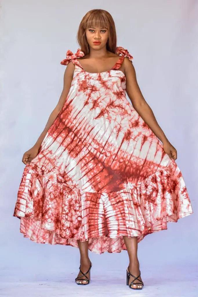 lady in adire dress