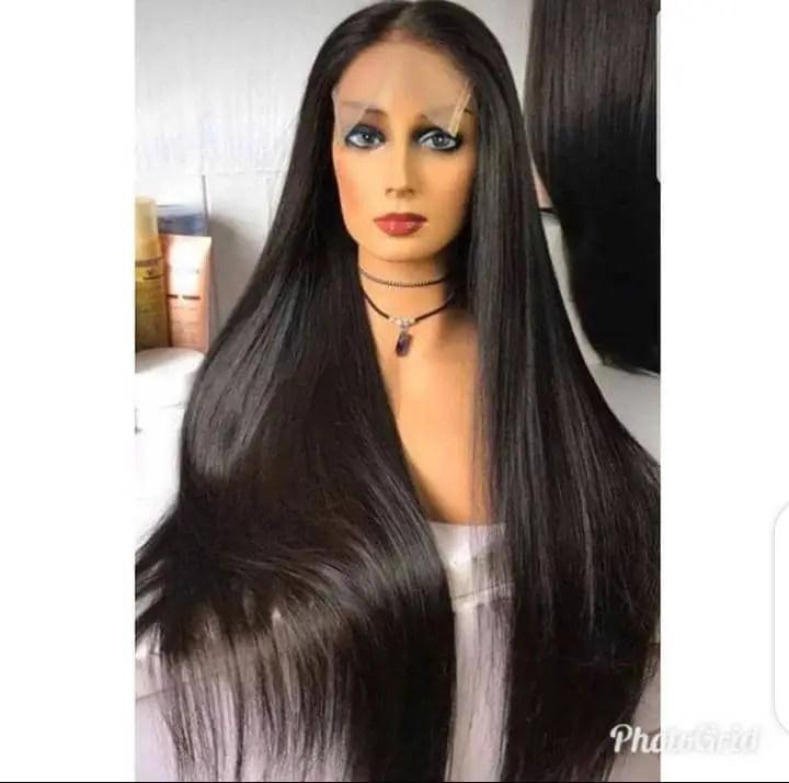 long black bone straight hair