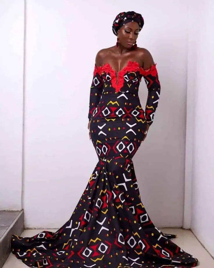 lady in long ankara dress