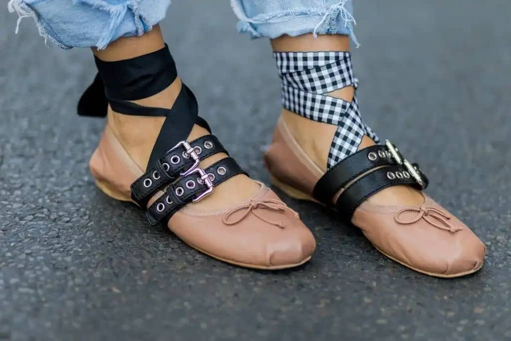 mismatched shoe straps