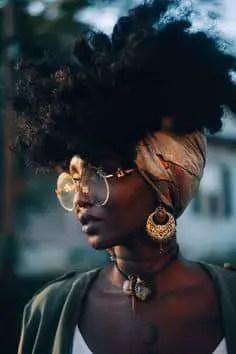lady wearing headwrap