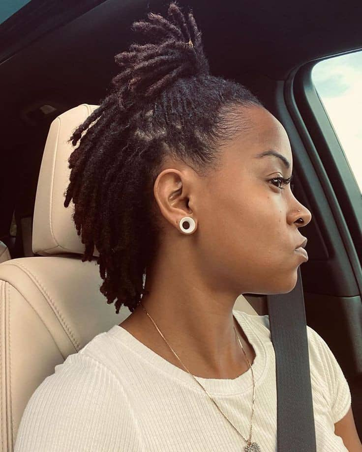 lady wearing black dreads