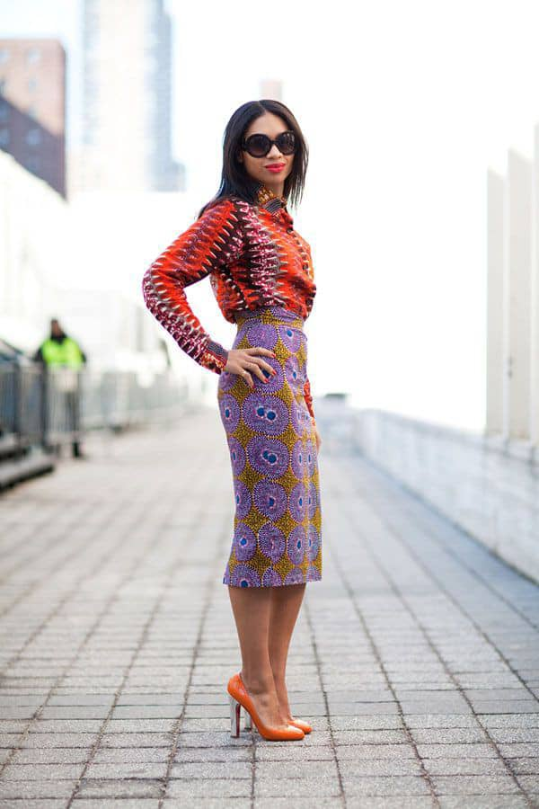 lady in ankara mix top and skirt