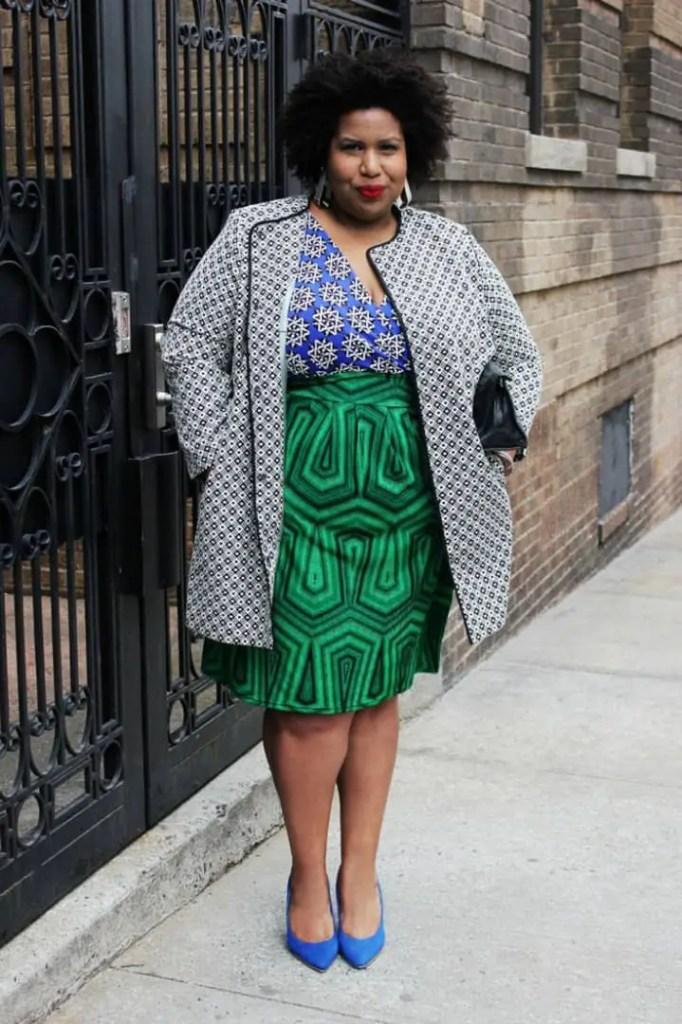 plus sized lady wearing different ankara prints