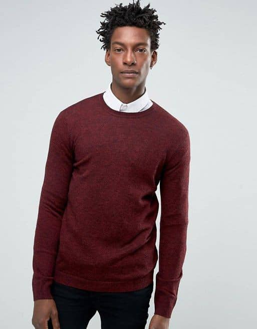 guy wearing a red sweater