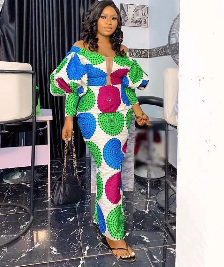 lady in an ankara owambe dress