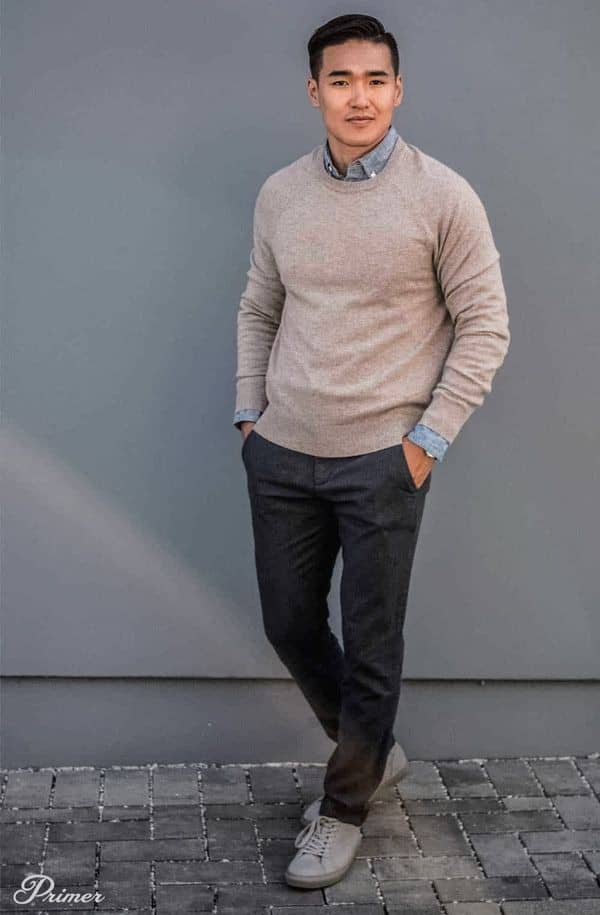 man wearing business casual outfit