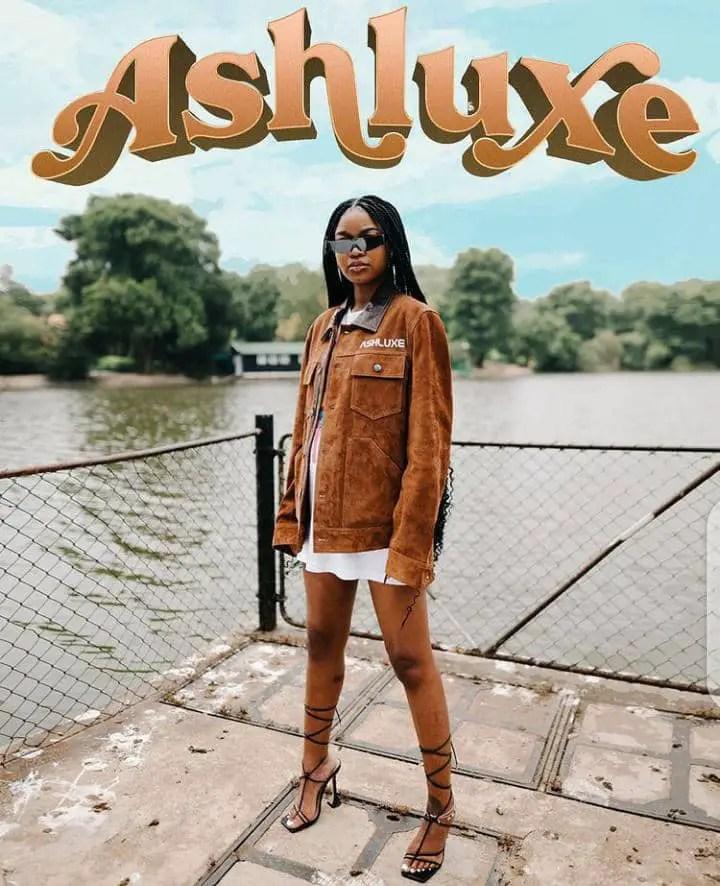 Lady in Ashluxe streetwear outfit