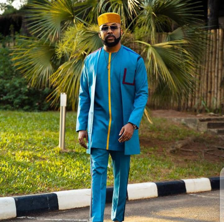 Banky W in a native wear outfit