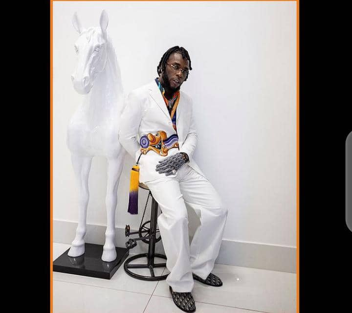 Burna Boy outfit for his 2021 Grammy performance