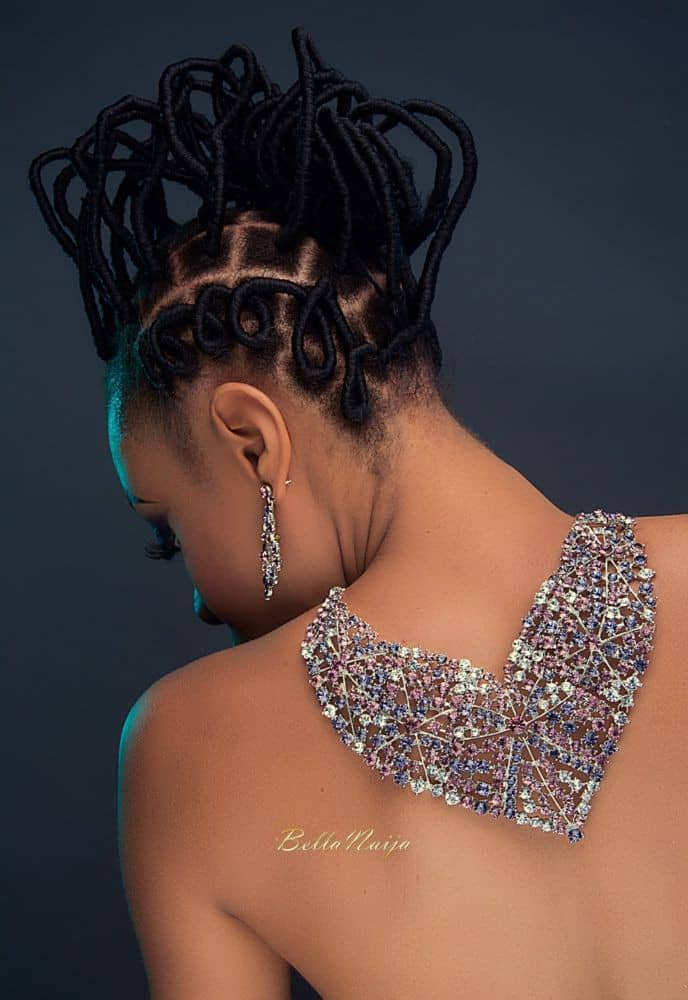 back view of stylish thread hairstyle