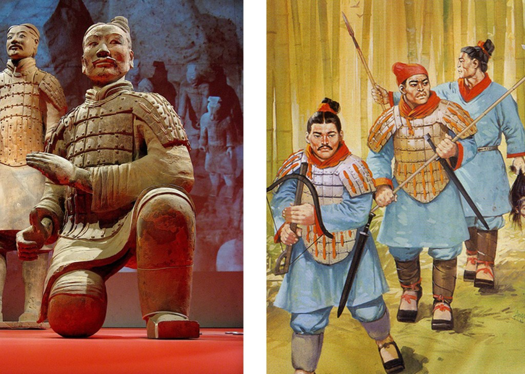 History of scarves from the old Chinese Empire