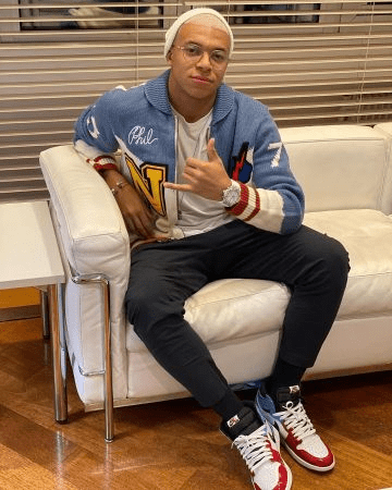 Kylian Mbappe in his casual outfit