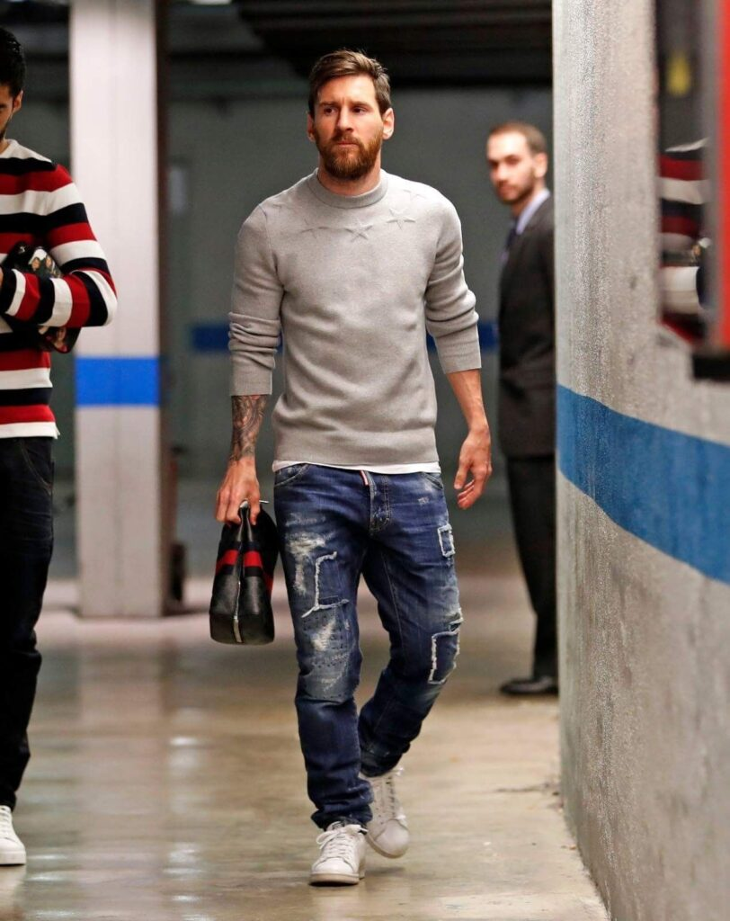 Lionel Messi stepping out in a casual outfit