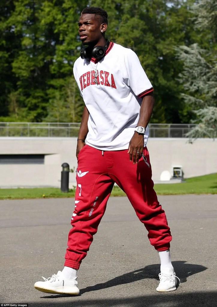Paul Pogba in his streetwear