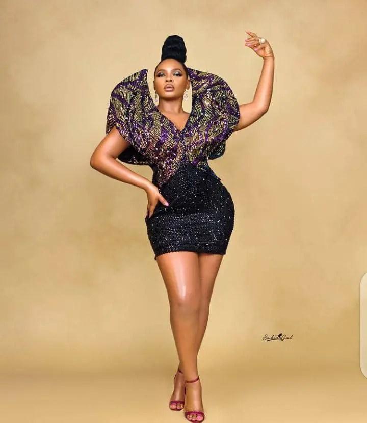 Yemi Alade wearing an edgy hot dress