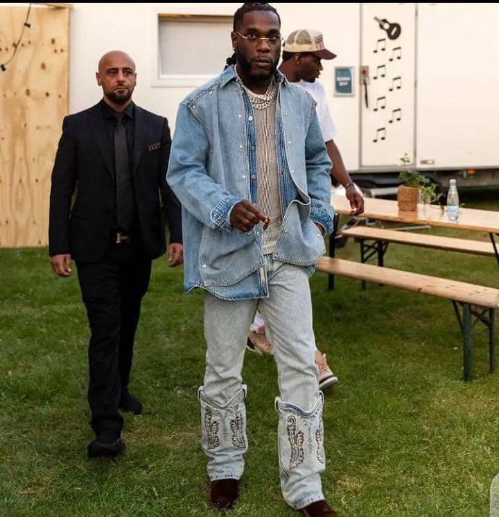 Burna boy rocking jeans