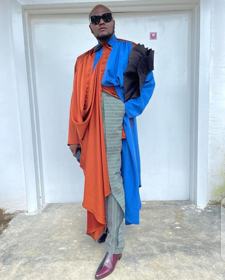 man stepping out in an eccentric style