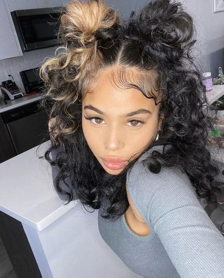 beautiful lady with nice edges