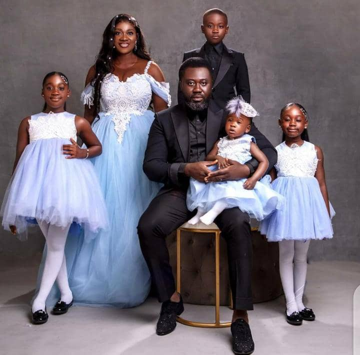 Mercy Johnson and her family picture