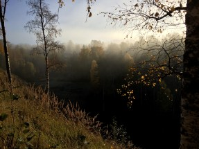 Morgonpromenad i Ramsele