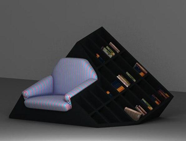 Bookshelf-Armchair