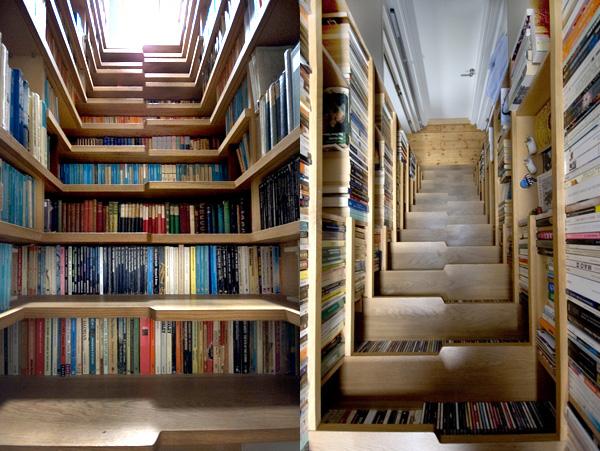 Bookshelf-Staircase