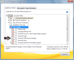 Install Picture Manager by using the SharePoint Designer 2010 installer