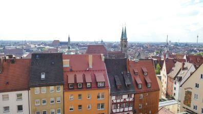 Blick von der Kaiserburg über Nürnberg 2016