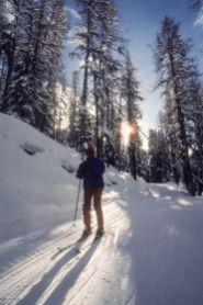 Ziehweg in Davos 1980