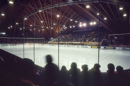 Eissporthalle in Davos 1983