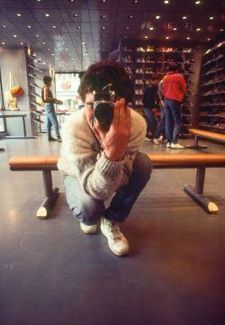 Schuhgeschäft in Luzern 1983