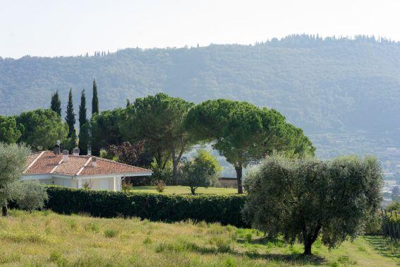 Haus mit Garten in Garda am Gardasee im Oktober 2018