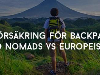 Reseförsäkring för backpackers World Nomads VS Europeiska ERV