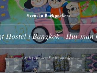 Billigt Hostel i Bangkok - Hur man hittar