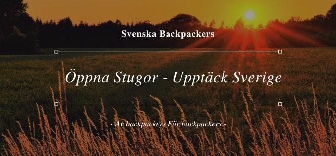 Öppna Stugor perfekta för att upptäcka Sverige
