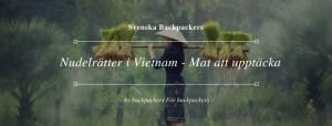 Nudelrätter i Vietnam - Mat att upptäcka