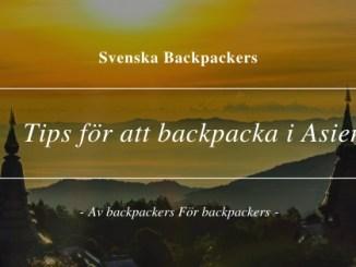 Tips för att backpacka i Asien
