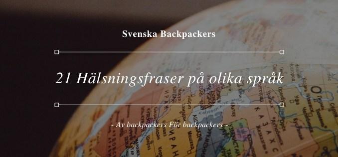 21 Hälsningsfraser på olika språk