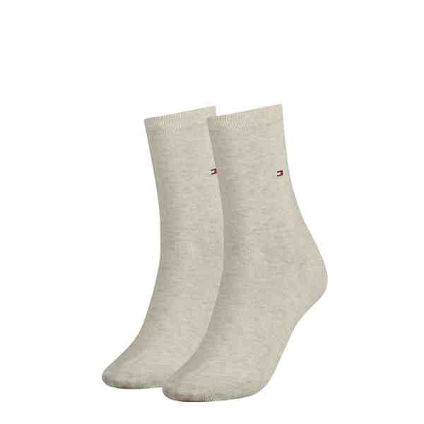 Tommy Hilfiger dames 2-pack sokken beige