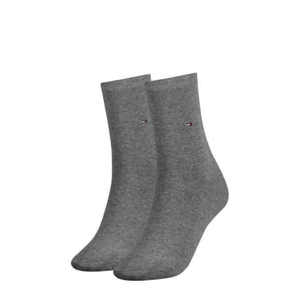 Tommy Hilfiger dames 2-pack sokken grijs