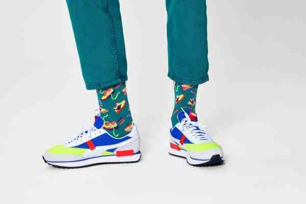 Happy Socks Run For It groen