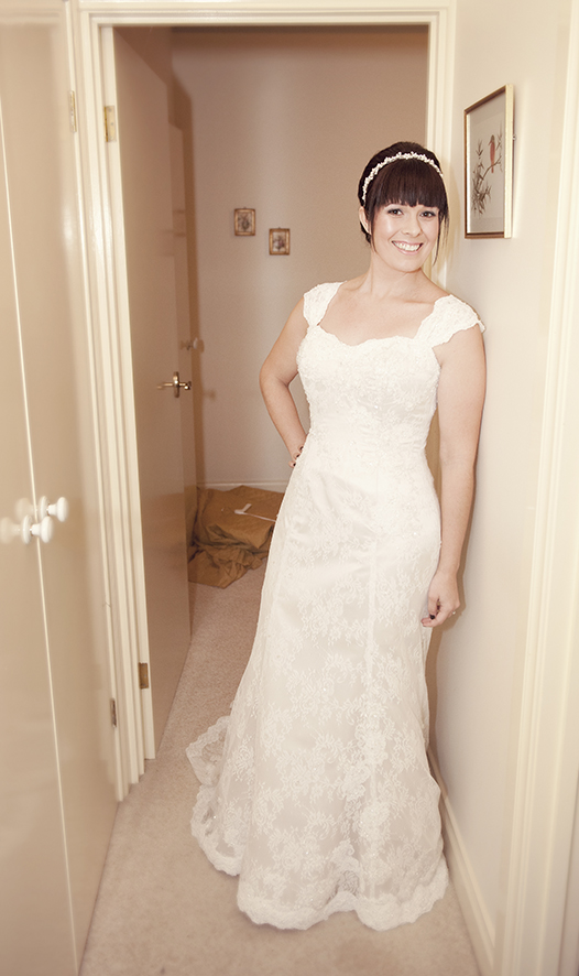Out from the bedroom with the dress