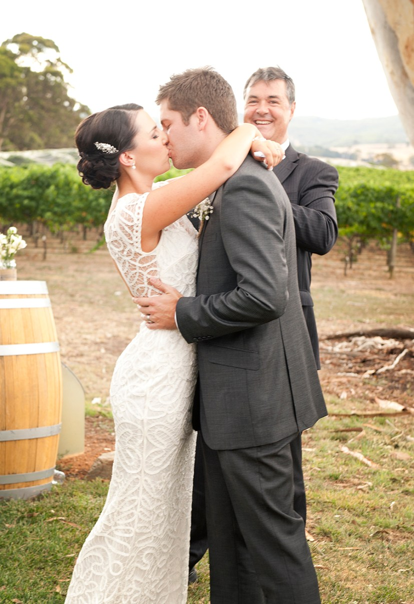 First kiss at Nepenthe winery