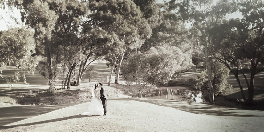 Kissing in the middle of the Flagstaff Hill Golf Course