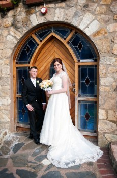 Bride and Groom at Camelot Castle